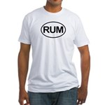 Rum Booze Alcohol Drink Oval Fitted T-Shirt