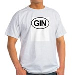 GIN Alcohol Booze Drink Oval Light T-Shirt