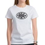 Snowflake Winter European Oval Women's T-Shirt