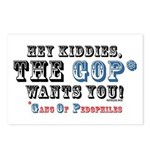 GOP=Gang of Pedophiles Postcards (Package of 8)