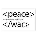 Begin Peace End War HTML Postcards (Package of 8)