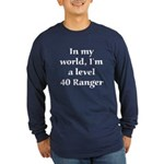 Level 40 Ranger Long Sleeve Blue T-Shirt