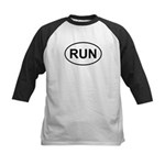 Run Runner Running Track Oval Kids Baseball Jersey