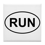 Run Runner Running Track Oval Tile Coaster