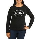 Run Runner Running Track Oval Women's Long Sleeve