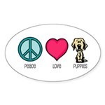 Peace Love & Labs Oval Sticker
