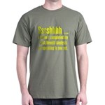 Cost Benefit Analysis Military Green T-Shirt