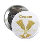 "Golden Groom 2.25"" Button (10 pack)"