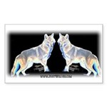 Ghost Wolf Rectangle Sticker