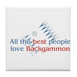 Backgammon Tile Coaster