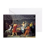 Death of Socrates Greeting Cards (Pk of 10)