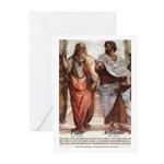 Plato Aristotle Philosophy Greeting Cards (Package