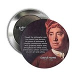 """David Hume Philosophy 2.25"""" Button (10 pack)"""