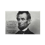 President Abraham Lincoln Rectangle Magnet (10 pac