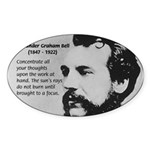 Alexander Graham Bell Oval Sticker