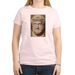 Greek Philosophers: Aristotle Women's Pink T-Shirt