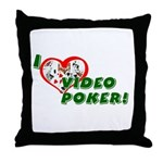 Video Poker Throw Pillow