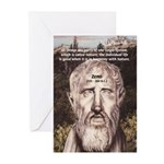 Stoic Philosophy: Zeno Greeting Cards (Package of
