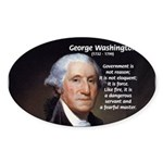 Politics: George Washington Oval Sticker