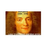 French Philosopher: Voltaire Rectangle Magnet