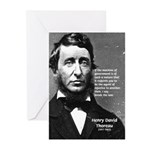 Philosophy / Nature: Thoreau Greeting Cards (Packa