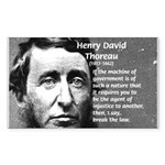Philosophy / Nature: Thoreau Rectangle Sticker