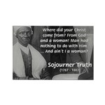 Lincoln with Sojourner Truth Rectangle Magnet (100
