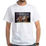 Truth and Wisdom: Socrates White T-Shirt