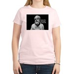 Socrates: Wisdom from Leisure Women's Pink T-Shirt