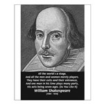 Playwright William Shakespeare Small Poster