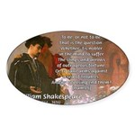 Hamlet Famous Soliloquy Oval Sticker