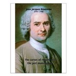 French Philosopher Rousseau Small Poster