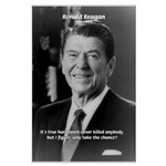 Humour of Ronald Reagan Large Poster