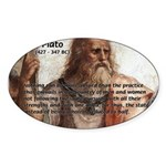 Plato: Philosophy / Equality Oval Sticker