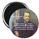 "Louis Pasteur: Science Humanity 2.25"" Magnet (10 p"