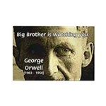 Orwell Big Brother 1984 Rectangle Magnet (100 pack