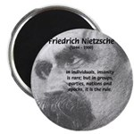 "Group Insanity: Nietzsche 2.25"" Magnet (10 pack)"