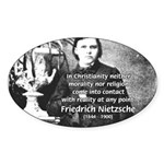 Critic of Religion: Nietzsche Oval Sticker