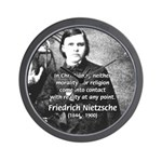 Critic of Religion: Nietzsche Wall Clock