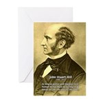 Utilitarianism John Mill Greeting Cards (Package o