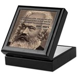 History Analyst Karl Marx Keepsake Box