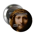 """Jesus Peace and Love 2.25"""" Button (10 pack)"""