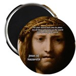"""Jesus Peace and Love 2.25"""" Magnet (10 pack)"""