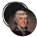 """Work and Luck Jefferson 2.25"""" Magnet (10 pack)"""