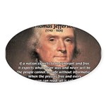 Media Thomas Jefferson Oval Sticker