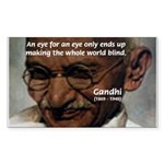 Peace Activist Gandhi Rectangle Sticker