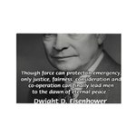 Peace and Justice Eisenhower Rectangle Magnet (100
