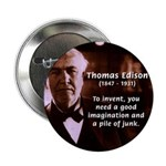 "Imagination Thomas Edison 2.25"" Button (10 pack)"