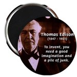 "Imagination Thomas Edison 2.25"" Magnet (10 pack)"