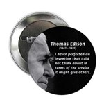 "Inventor Thomas Edison 2.25"" Button (10 pack)"